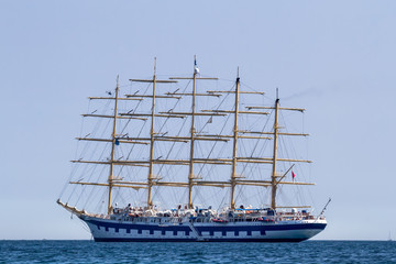 Fünfmastiges Segelschiff