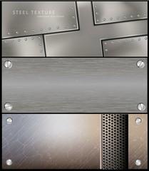 metall steel banner for facebook vector Design
