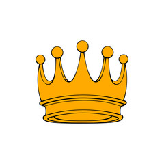 Royal attribute golden crown isolated on white background. Vector.