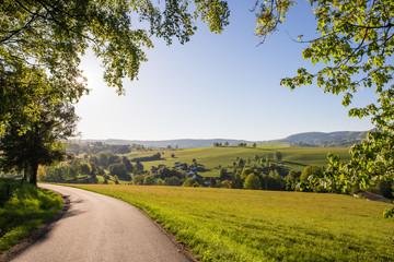Eine Landschaft in der Rhön ( Deutschland )
