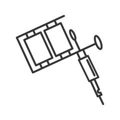 Tattoo machine linear icon