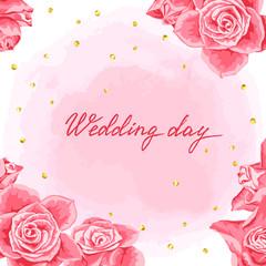 Wedding invitation or greeting card.