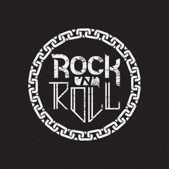 print on shirt or poster of rock n roll