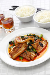 traditional twice cooked pork, Sichuan style chinese dish