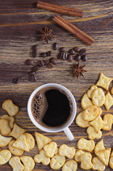 Coffee with crackers