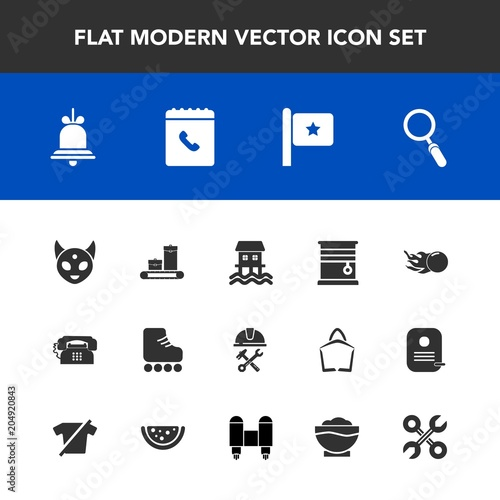Modern, simple vector icon set with tool, industrial, home