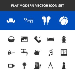 Modern, simple vector icon set with phone, safety, tap, hat, guitar, kettle, sport, football, double, bed, soccer, bathroom, department, fire, bedroom, picture, hydrant, faucet, fashion, image icons