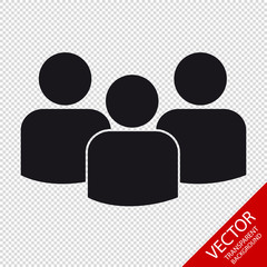 Group Of People - Flat Vector Icon For Apps And Websites - Isolated On Transparent Background