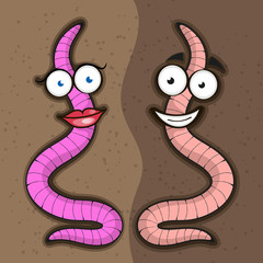 Cute cartoon worm.