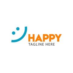 Happy Vector Template Design Illustration