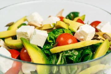 Close up of fresh organic salad
