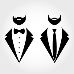 Suit icon isolated on white background.