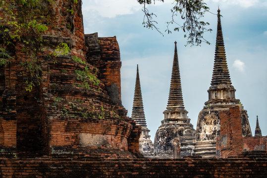 Siamesische Ruinenstadt Ayutthaya: 3 Stupas