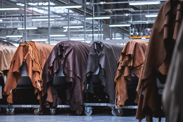 Production of leather furniture