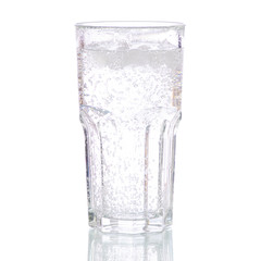 Glass carbonated water