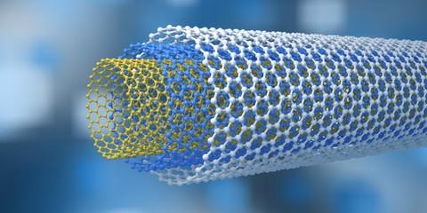 carbon nanotubes, nanotechnologies, 3D rendering