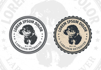 2 Dog Badge Layouts