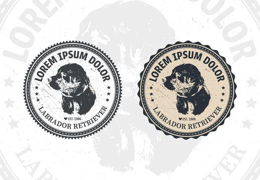 2 Dog Badge Layouts