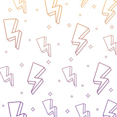 background of lightnings pattern, vector illustration