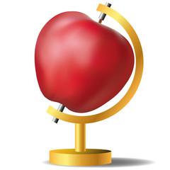 pomme - globe - monde - fruit - santé - diète - alimentation - nourriture - diététique - concept,