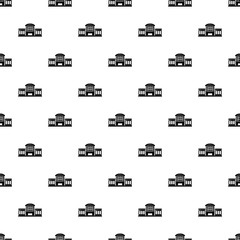 Railway station pattern vector seamless