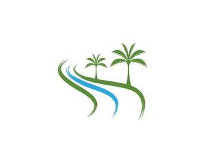 Coconut  tree icon logo vector template