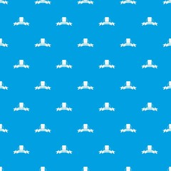 Gmo free food pattern vector seamless blue