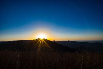 Blue Ridge Mountains Sunrise, North Carolina