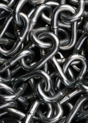 Metal chain links. Chain abstract background