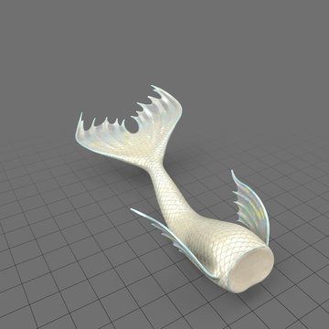 Mermaid tail swimming