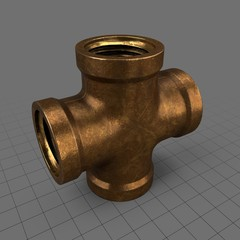 Vintage brass joint