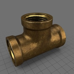 Vintage brass fitting 3