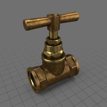 Vintage brass valve