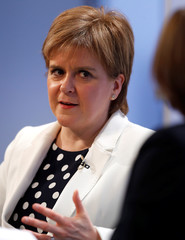 Scotland's First Minister, Nicola Sturgeon, speaks at a Reuters Newsmaker event, in London