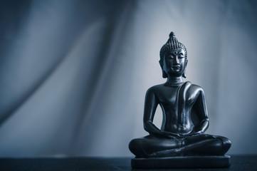 black statue of Buddha