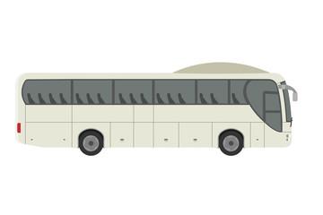 Express travel tourist bus vecor flat illustration design isolated on white