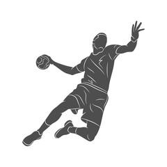 handball player abstract