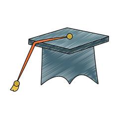 Graduation cap isolated vector illustration graphic design
