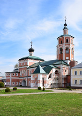 The Church of the Ascension of the Lord is built on the territory of the monastery of John the Baptist in 1650. The name of the architect is unknown. Russia, Vyazma, April 2018.