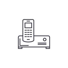 Air conditioner linear icon concept. Air conditioner line vector sign, symbol, illustration.