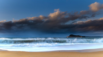 Early Morning Seascape with Clouds