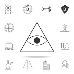 pyramid eye icon. Detailed set of web icons and signs. Premium graphic design. One of the collection icons for websites, web design, mobile app