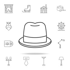 hat icon. Detailed set of web icons and signs. Premium graphic design. One of the collection icons for websites, web design, mobile app