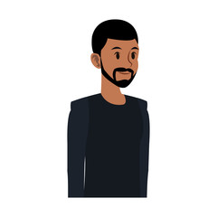 Young man cartoon with casual clothes vector illustration graphic design