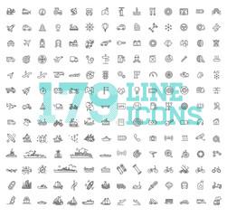 Transport icons, thin line design