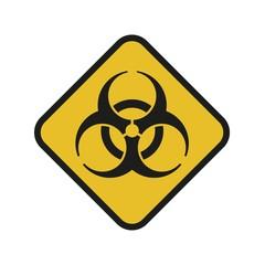 Vector illustration. Bio hazard. Square sign of Biohazard. Safe sign.