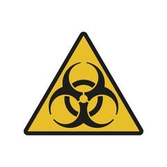 Vector illustration. Bio hazard. Triangle sign of Biohazard. Safe sign.