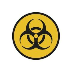 Vector illustration. Bio hazard. Round sign of Biohazard. Safe sign.