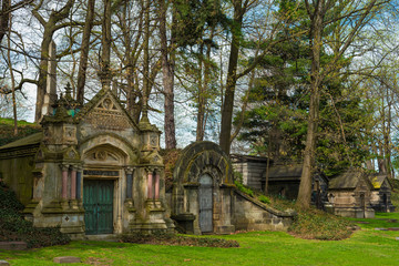 Old cemetery mausoleums