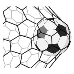 Soccer ball in a grid.